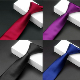 Fashion personality series tie 5.5CM narrow tie Polyester solid color tie for various occasions