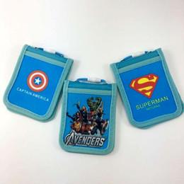 2017 enfants de bande dessinée étudiants sacs Avenger Alliance Superman Amérique Captain Cartoon Carte d'identité Enfants Sacs à main carte étudiant Sac à dos carte de bureau Sacs