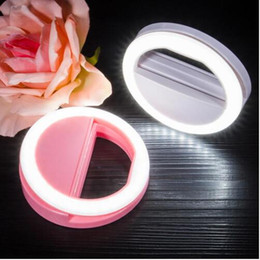 2017 anillo de luz led de la cámara Alta luz llevó luz de anillo de la lámpara de luz Luz portátil de cámara de flash Fotografía Anillo Luz Mejorar la fotografía para Smartphone anillo de luz led de la cámara en venta