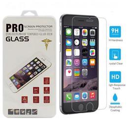 Compra Online Pantallas digitales-Para Iphone 7 protectores de pantalla de vidrio templado para Iphone 7 Plus Iphone 6 2.5D protector de pantalla anti-huella digital HuaWei Mate 9 Clear Film