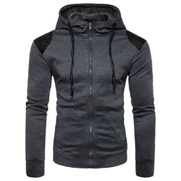 Free Shipping US Size S-2XL High Quality 2017 Autumn and Winter New Men Fight Skin Shoulders Hooded Cardigan Sweater
