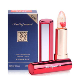 Wholesale Kailijumei Flowers Transparent Lipstick Women Magic Color Temperature Change Moisturizer Bright Soft Make Up Cosmetics Factory Direct Sale