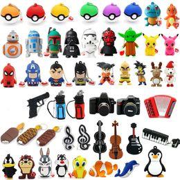 Wholesale USB Flash Memory Stick Pen Drives GB GB GB GB GB GB PVC Cheaper Cartoon Animal Pendrives Promotional Gift Designs