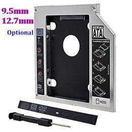 """Una caja portadiscos disco en venta-SATA universal a SATA 2do HDD Caddy 9.5mm 12.7mm Para el recinto de la impulsión de disco duro del caso de 2.5 """"SSD para el ordenador portátil ODD Optibay Optical Bay"""