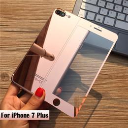 2017 plaque d'écran DHL Shipping Free Front + Back 2.5D Coloration Electro-rétroviseur Verre trempé pour iPhone 7 7 Plus Protector d'écran Film plaque d'écran ventes