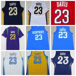 Wholesale Cheap Anthony Davis Jersey New Material Rev Embroidery Kentucky Wildcats Anthony Davis College Jerseys