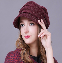 New Female Hats Keep Warm Winter Autumn Hats Fold Beret Hat Korean Style Fashion Ladies Commuter Christmas