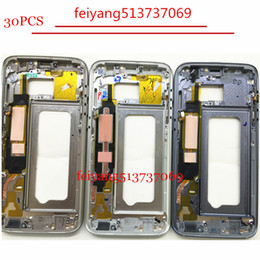 30pcs new Metal Middle Bezel Frame Case for Samsung Galaxy S7 G930 S7 Edge G935 Housing with Small Parts