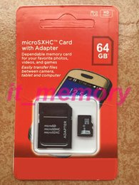 Wholesale Memory Card GB C10 Micro SD Card TF Flash microSDXC UHS I Class10 Card for Mobile Phones Cameras with Adaptor