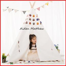 Descuento altos tiendas de campaña Venta al por mayor-tienda de lona de algodón de alta calidad para los niños Tiendas Tipi para la venta