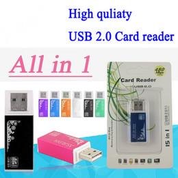 2017 adaptateurs memory stick Tout en un Lecteur de cartes Portable Mini Multi Lecteur de carte mémoire Adaptateur Connecteur pour Micro SD MMC SDHC TF M2 Memory Stick adaptateurs memory stick sur la vente
