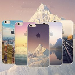 For iPhone 7 Soft TPU Ultra Thin Clear Iphone 6 6s Case Soft Transparent gel landscape Case iPhone 5 Back Case Opp Bag