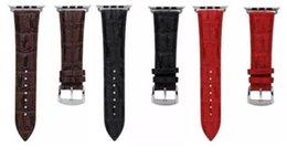 2017 bracelet en cuir véritable 2017 nouveau Genuine Crocodile bracelet en cuir Remplacement Wrist Band Straps pour Apple Smart Watch iwatch Strap Haute Qualité Luxe bracelet en cuir véritable promotion
