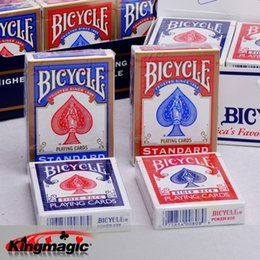 Los precios al por mayor de las bicicletas liberan el envío en Línea-El precio al por mayor-Original de las bicicletas del póker 1 de la bicicleta precio rojo o azul de la bicicleta que juega las tarjetas que juegan detrás 808Standard plateó las cubiertas selladas envío libre
