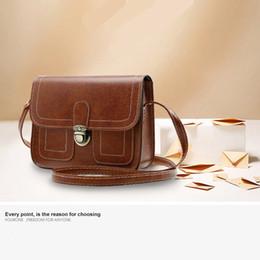 2017 vintage shoulder inclined shoulder bag Simple messenger bag Fashionable mobile phone bag