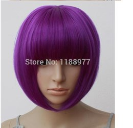 Sexy Women BOBO Head Style Straight Bang Short Wigs Hair Cap Hairnet 8 colors free shipping