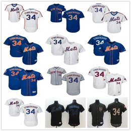 NY Mets #34 Noah Syndergaard Majestic New York MLB Baseball Jerseys Black White Orange Blue With Mr Mets Patch On Sale