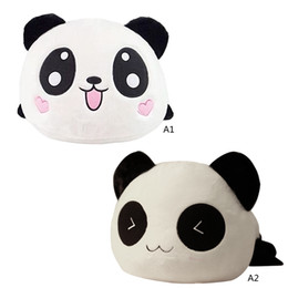 """Oreillers panda en peluche en Ligne-Grossiste-1 PC 20cm Enfants Bébé Enfants Jouets pour animaux 8 """"Cute Peluche Poupée Jouet Panda Oreiller Qualité Bolster Cadeau VBQ42 P50"""