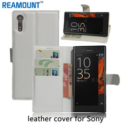 Luxury Flip Leather Stand Case PU Leather Cover for SONY Z4 mini for SONY Xperia XZ with Card Slot Stand Case