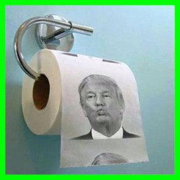 Wholesale Creative Funny Toilet Paper with Donald Trump Hillary Clinton Barack Obama Photo Printing layer Toilet Paper with Drawing Gag Gifts