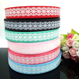 "12 yards 1"" grosgrain ribbon printed DIY Weaving wedding christmas decorations for making hair bows R004"