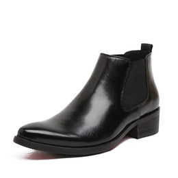 2017 botas altas de tacón hombres señalaron dedos de los pies Venta al por mayor-2016 primavera y botas de verano puntiaguda dedo del pie rojo inferior tacones Bullock patrones Oxford vestido para hombres botas botas altas de tacón hombres señalaron dedos de los pies en venta