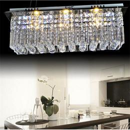 Wholesale Modern k9 rectangle LED crystal Chandelier balcony lamp aisle lights ceiling light pendant lamps fitting for hallway Bedroom led lighting