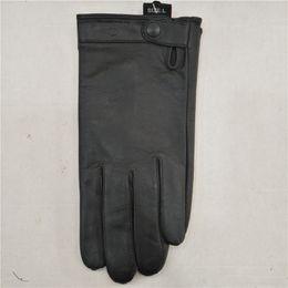 Classic Purple Goat Men 's Glove Black Side Cover Coat Waterproof Warmproof Single Layer Leather Glove