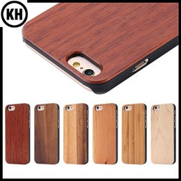 Wholesale Eco friendly Handmade Wood Bamboo Cellphone Case For iPhone6 iPhone6 Plus Plus Classic Solid Maple Cherry Walnut Wooden Protection Cases