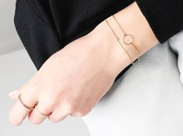 Superfine single ring hand chain 925 silver
