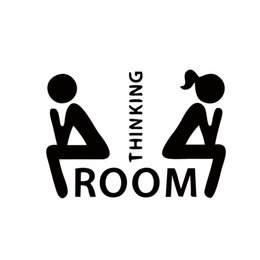 Wholesale Hot Sale Thinking Room Toilet Stickers Removable Waterproof Funny Bathroom Pedestal Pan Cover Stickers Diy Wc Decals DIY