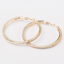 The bride jewelry Personality Super Big Circles Hoop Earrings For Women Fashion Gold-color Jewelry Bijoux Trendy Statement Earrings