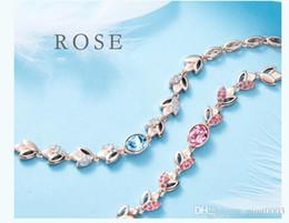 pulseras mujer women charm bracelet crystal rose gold bracelet
