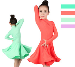 Brand new girls women orange red mint green lilac green ballroom grade performance dress latin dance costume skirt GD1776