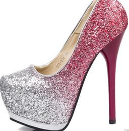 Promotion chaussures habillées pour les femmes prix WHOLESALER LIVRAISON GRATUITE FACTORY PRIX chaussures habillées talon haut plate-forme patentes femmes chaussures MARIAGE mariée shoe066