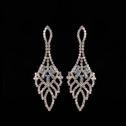 2017 new Mecresh Elegant Tassel Drop Rhinestone Jewelry Long Earrings for Women Christmas gift New Year gift