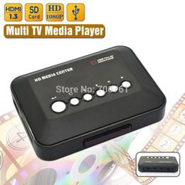Descuento el jugador del sd para la televisión Venta al por mayor 1080P USB 2.0 HD Multi TV Media Player SD / MMC TV Videos YPrPb, AV MMC RMVB MP3 HDMI Media Player