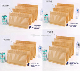 50pcs lot sepcial design kraft paper bag stand up width enlarged bag for rice corn coffee tea tea cookie candy four size free shipping epack
