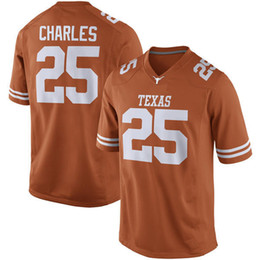 Wholesale Texas Longhorns Charles Thomas III McCoy NO Fans Burnt Orange white Limited College Football Jersey Stitched Size S XL