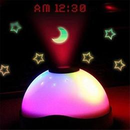 2016 lumière magique étoile Réveil 7 Couleurs LED Changement Star Night Light Magic Rétroéclairage Projecteur Horloge lumière magique étoile promotion