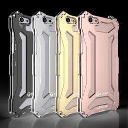 R-JUST Luxury Aluminium Metal Armor Case For iPhone 5 5C 5S SE 6 Iphone 7 7Plus 6S 6 Plus Housing Covers Shockproof anti-knock Casees R-01