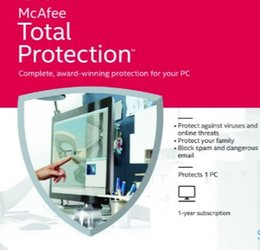 Wholesale McAfee Total Protection Antivirus Software Year PC User For Protect Your Computer
