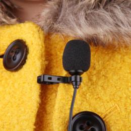 Compra Online Computadoras portátiles para la venta-El micrófono caliente del clip del lavaplatos del micrófono del metal de la venta 3.5mm caliente para el ordenador portátil de la computadora de la computadora del altavoz de Lound con el clip del collar