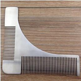 Descuento recortar las herramientas de corte Beard Shaping Tool Hombre Gentleman Beard Trim Template Plantilla de corte de cabello moldeado de corte Plantilla de corte de pelo