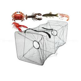 Креветки для рыб Онлайн-1 ПК Складная нейлон рыболовную сеть Поймать Краб Рыба Crawdad Креветки Minnow Mesh Клетка Рыбалка Bait Ловушка Cast Dip Дрейф Чистый заказ креветок $ 18no т
