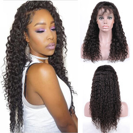 Deep Wave Brazilian Virgin Lace Front Wigs With Baby Hair 100% Human Hair Weave Natural Black Color 1 Piece 6-24 Inch Free Shipping