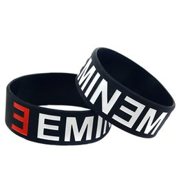 Wholesale 50PCS Lot EMINEM Silicone Bracelet for Music Fans Wear This Latex-Free Wristband To Support The One You Love