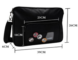 Wholesale Watch Dogs Marcus Holloway Bag Oxford Cloth Soft Black Cosplay Shoulder Bag With Badges