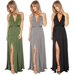 Wholesale Foreign trade to dress sexy dress belt and deep V over neck backless dress amazon sold on EBAY
