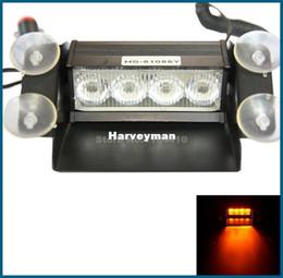 Descuento nave de luz estroboscópica de advertencia 4 luz del flash del estroboscópico del LED que enciende el rojo que destella de la niebla de los bomberos del coche del ccsme que envía libremente